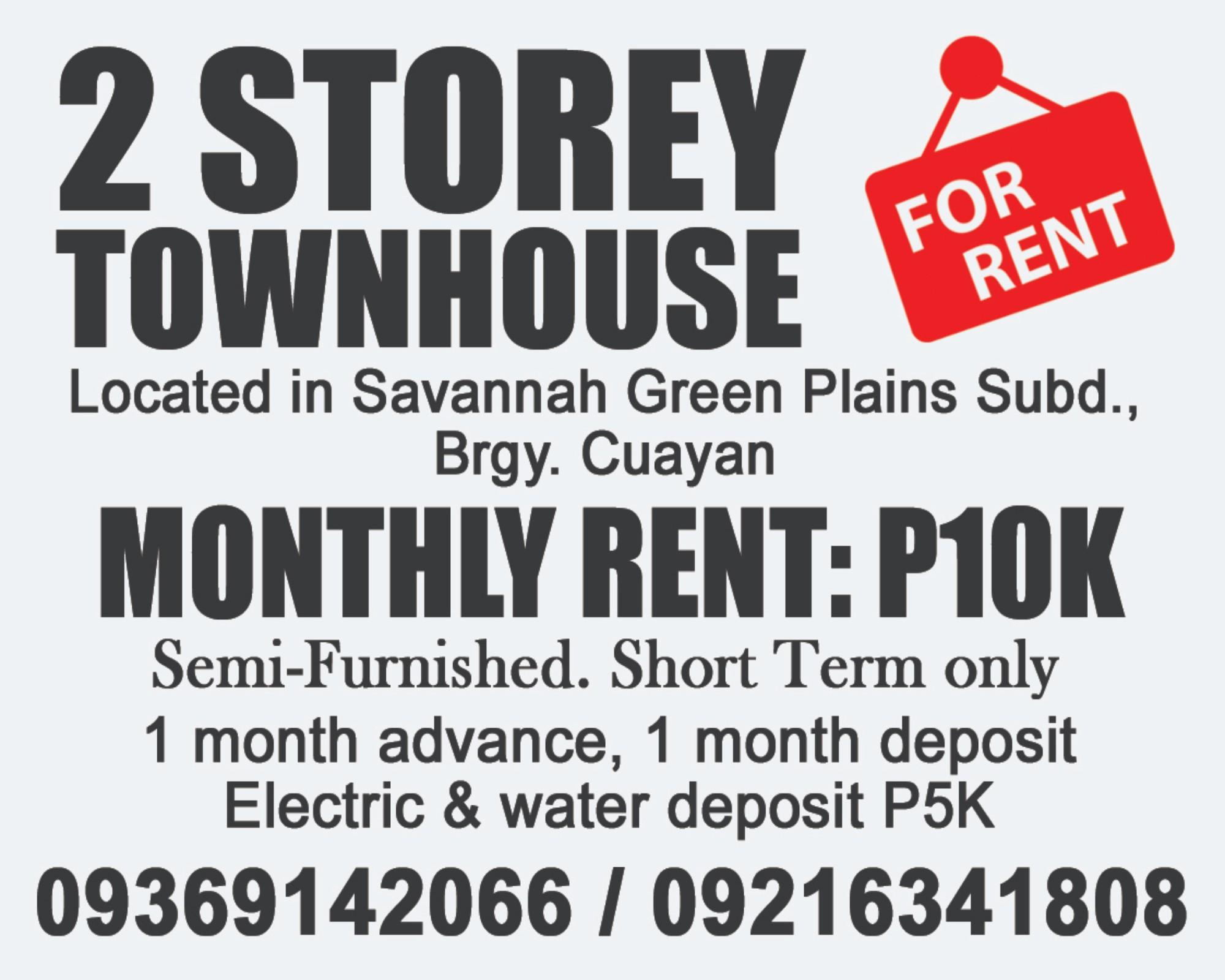 2 Storey Townhouse