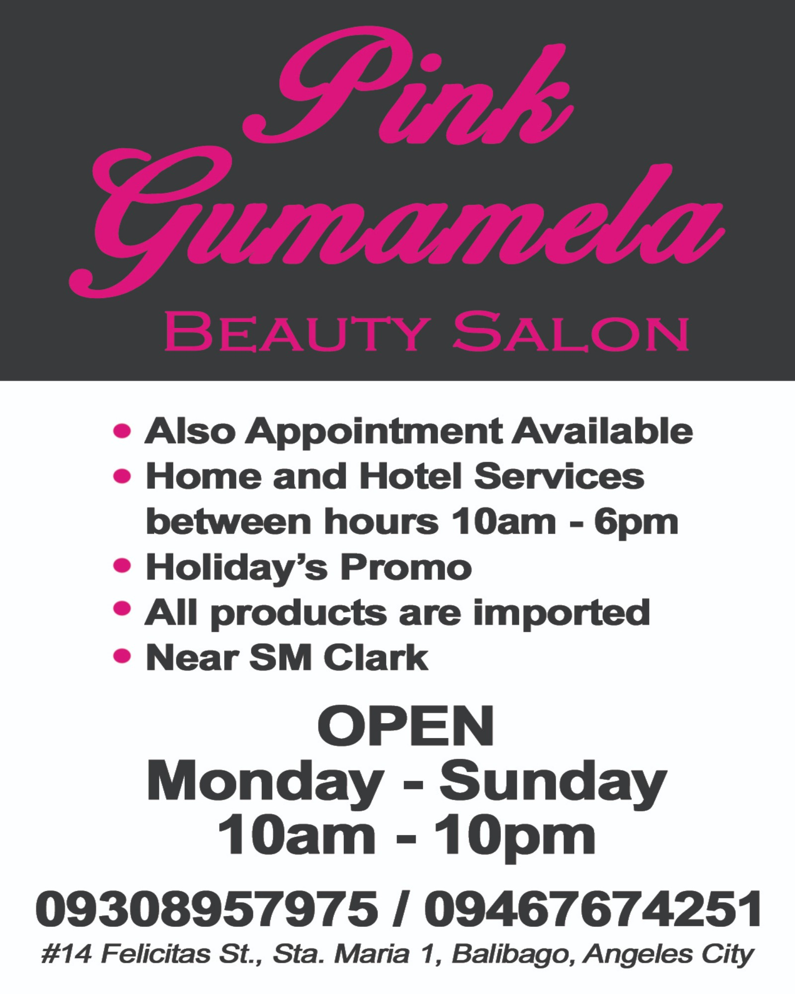 Pink Gumamela Beauty Salon