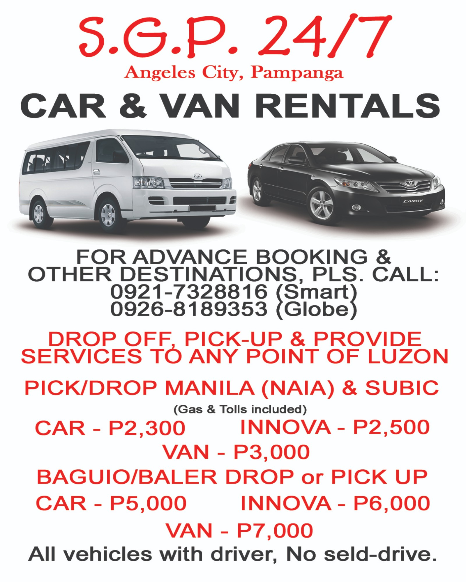 SGP Car & Van Rentals